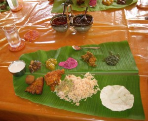 Banana leaf meal at the Bangla