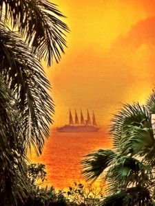 Windstar sailing from Nevis